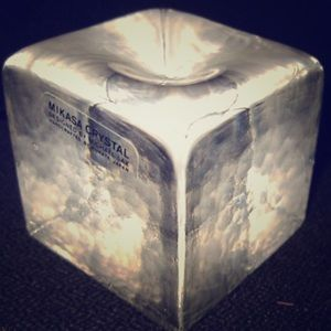 🌈Mikasa Crystal Solid Cube - Vintage💫